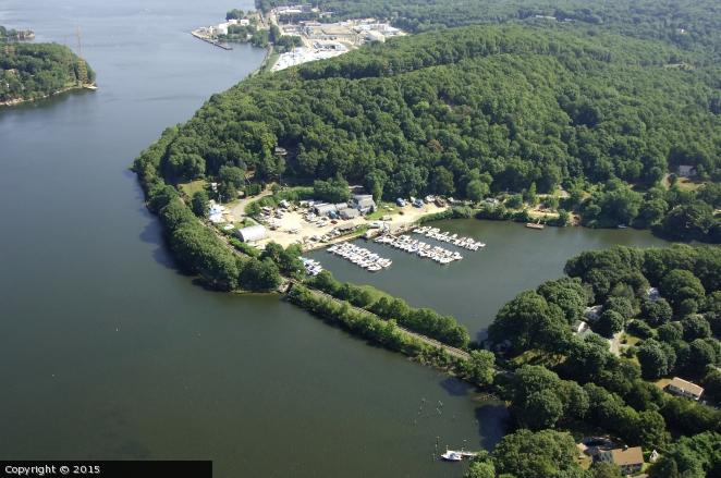 Gales Ferry Marina Aerial Photo